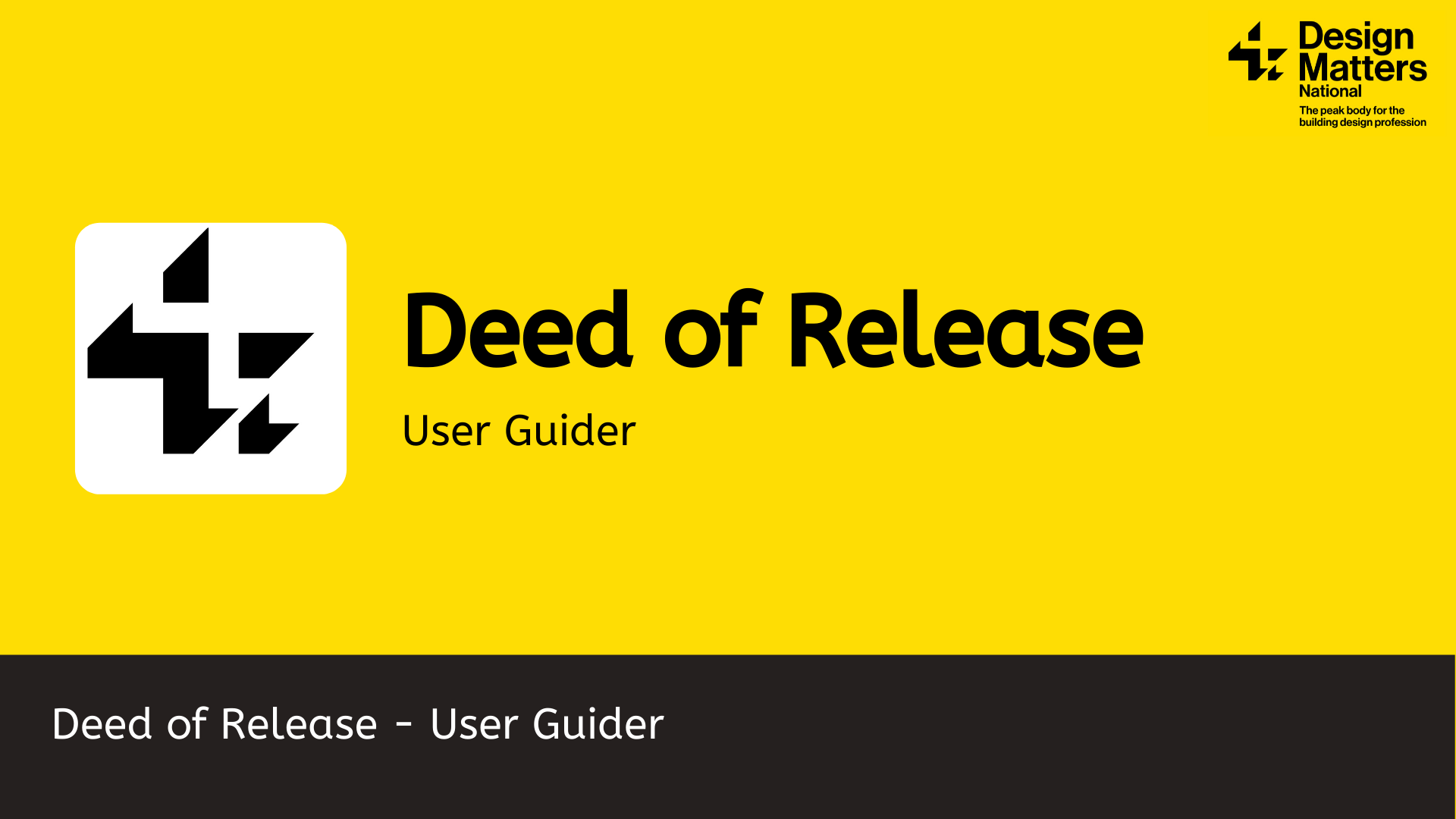 Deed of Release CAD files and User Guide